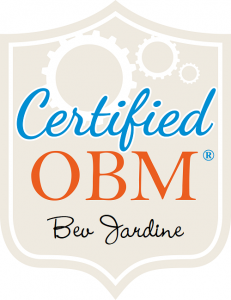 Bev Jardine Certified OBM Badge